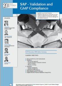 Veranstaltungsflyer zum Live Online Training: SAP: Validation and GMP Compliance